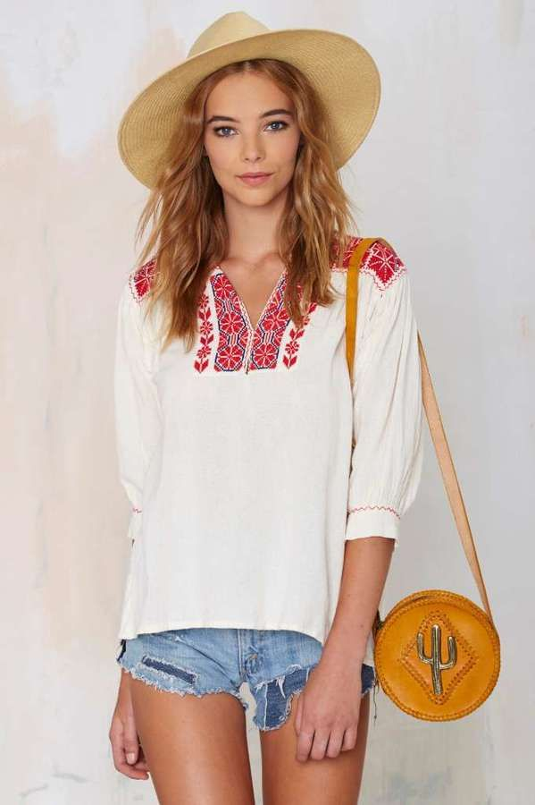 Factory Vintage Riley Embroidered Blouse