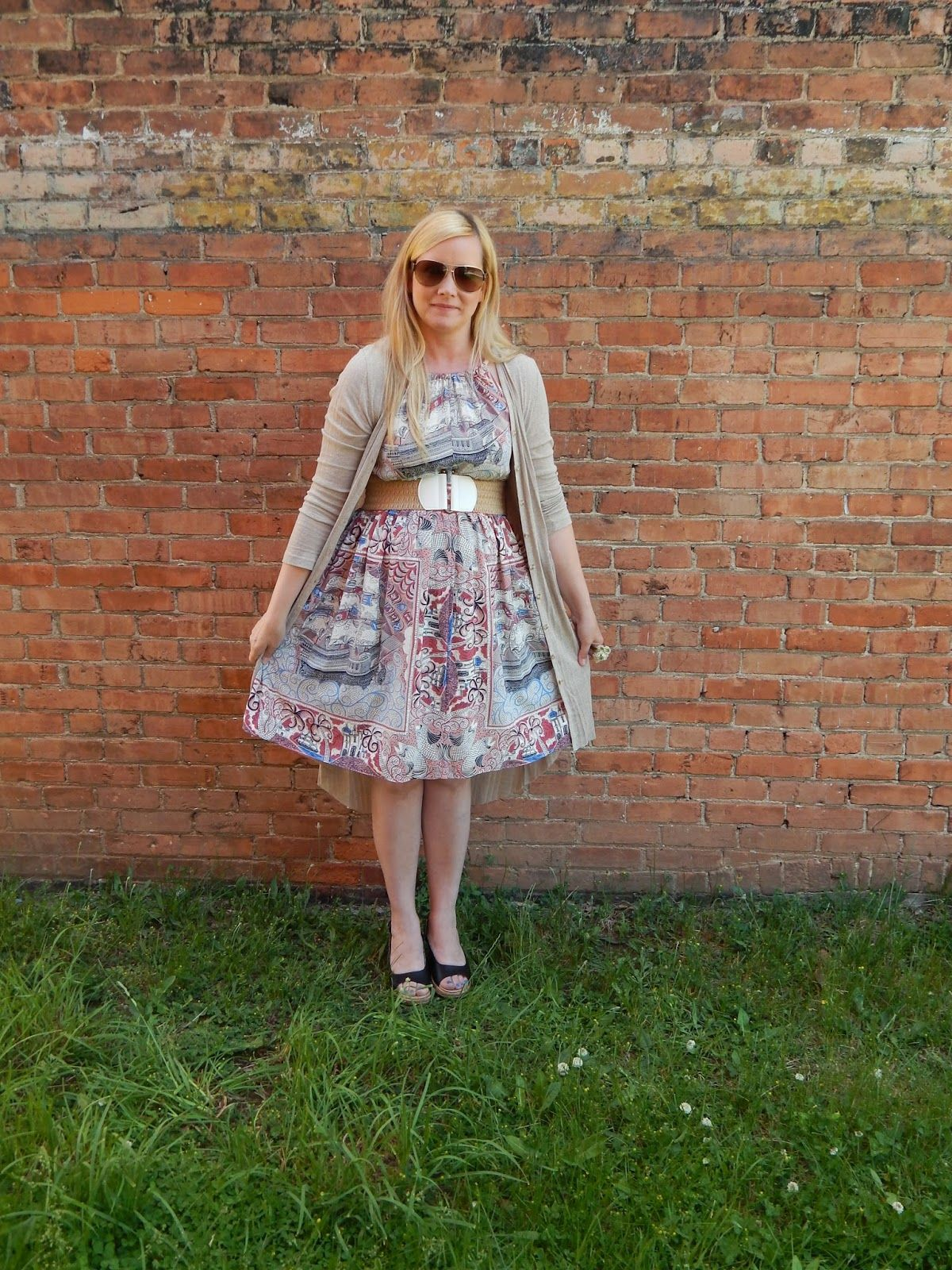 ea4c68ed1cd88 The Peacock Fairy: Repeat Outfit Combo + Deal Sighting #ootd #maternity  #anthropologie #floreat #castlelake #maxicardi #crocs