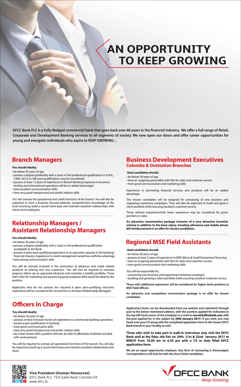 Branch Manager/Relationship Manager/Asst. Relationship