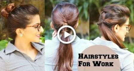 3 QUICK Everyday Hairstyles For Work, Office, College / No Teasing, No Hairspray / Indian – #college #everyday #hairspray #hairstyles