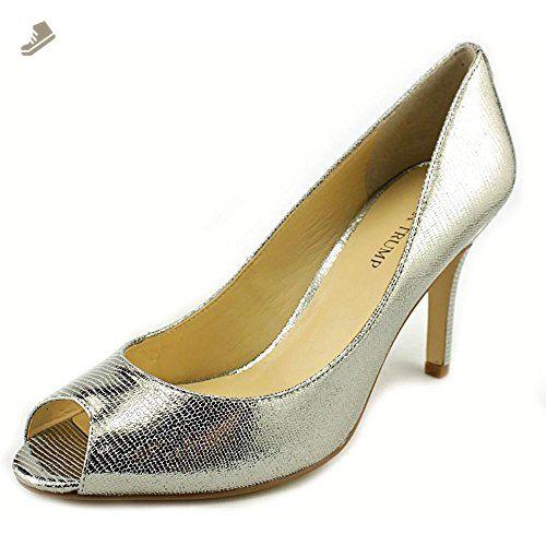 2af28c4fedce Ivanka Trump Cleo 5 Open-Toe Leather Heels