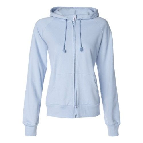 LADY HOODED FZIP SWEATSHIRT WITH CONTRAST DETAILS