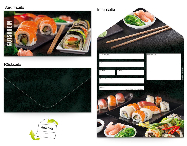 Motiv Sushi Gutscheinvorlagen Gutscheine Gutschein Vorlage Sushi
