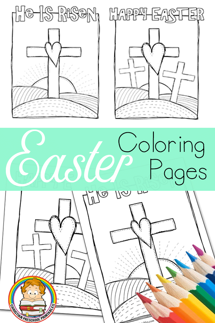 Easter bible coloring pages via craftyclassroom kristalus stuff