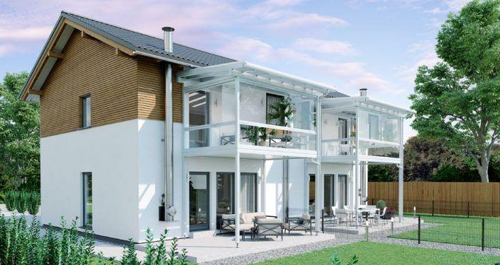 Balkon-Terrassenüberdachung - LEEB Überdachungen für die Terrasse ...