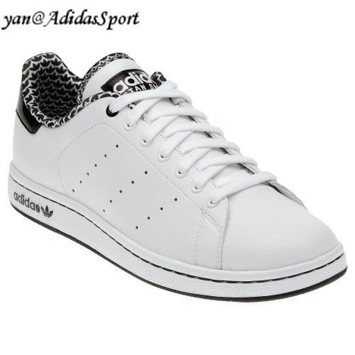 detailed look 38dd2 90412 Comprar Barato Mujeres Adidas Originals Stan Smith 2.0 Zapatos de Cuero  Blanco Negro Outlet Madrid. Encuentra ...