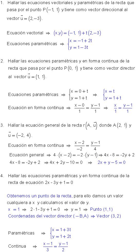 Ejercicios Rectas En El Plano Ecuaciones Ejercicios Matematicos Secundaria Limites Matematicos