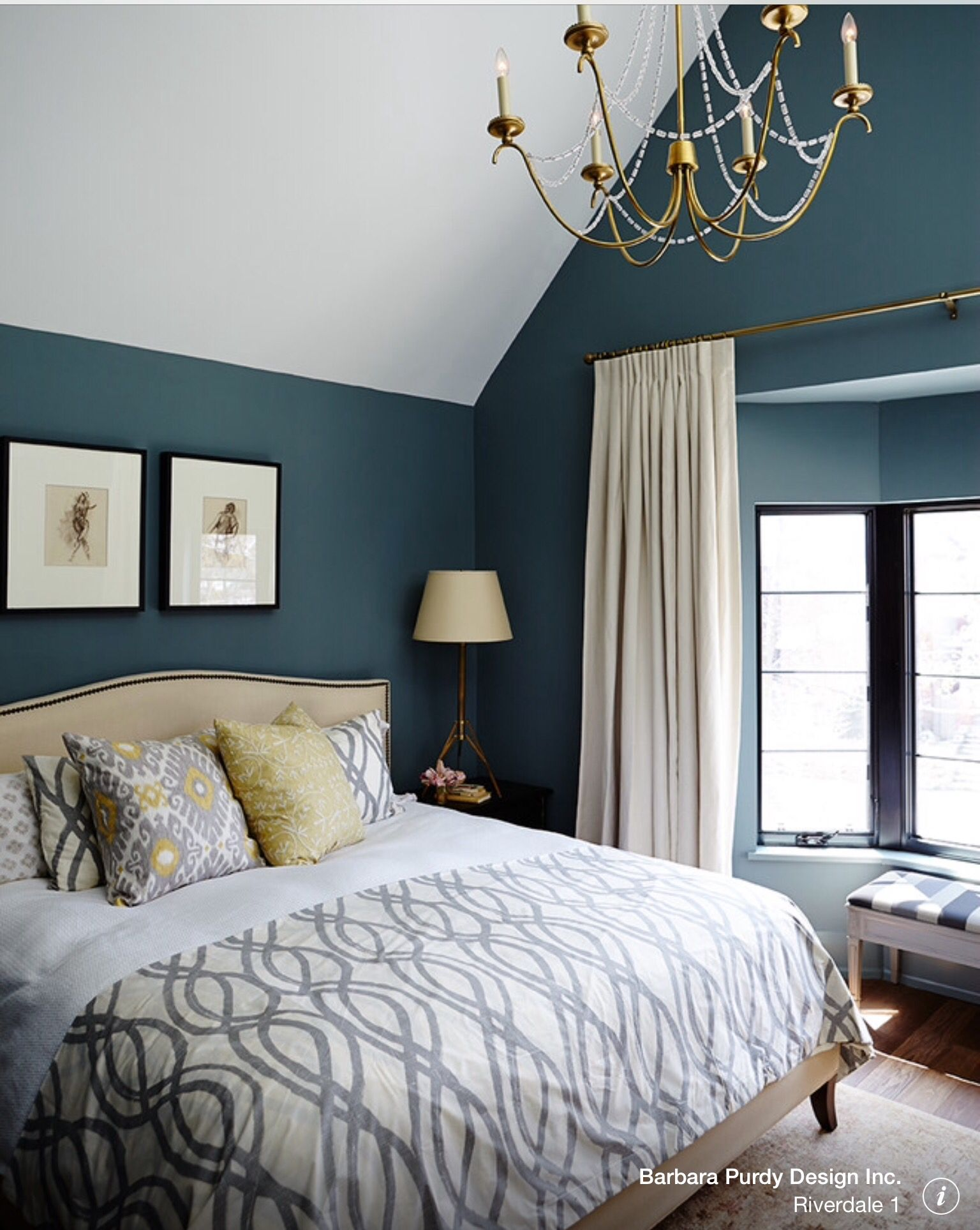 bedroom benjamin moore templeton gray hc-161 | home decor
