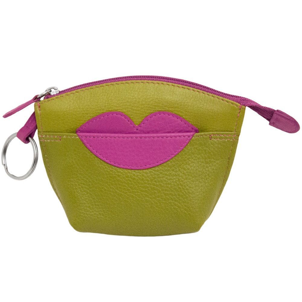 Leather Lips Coin Purse