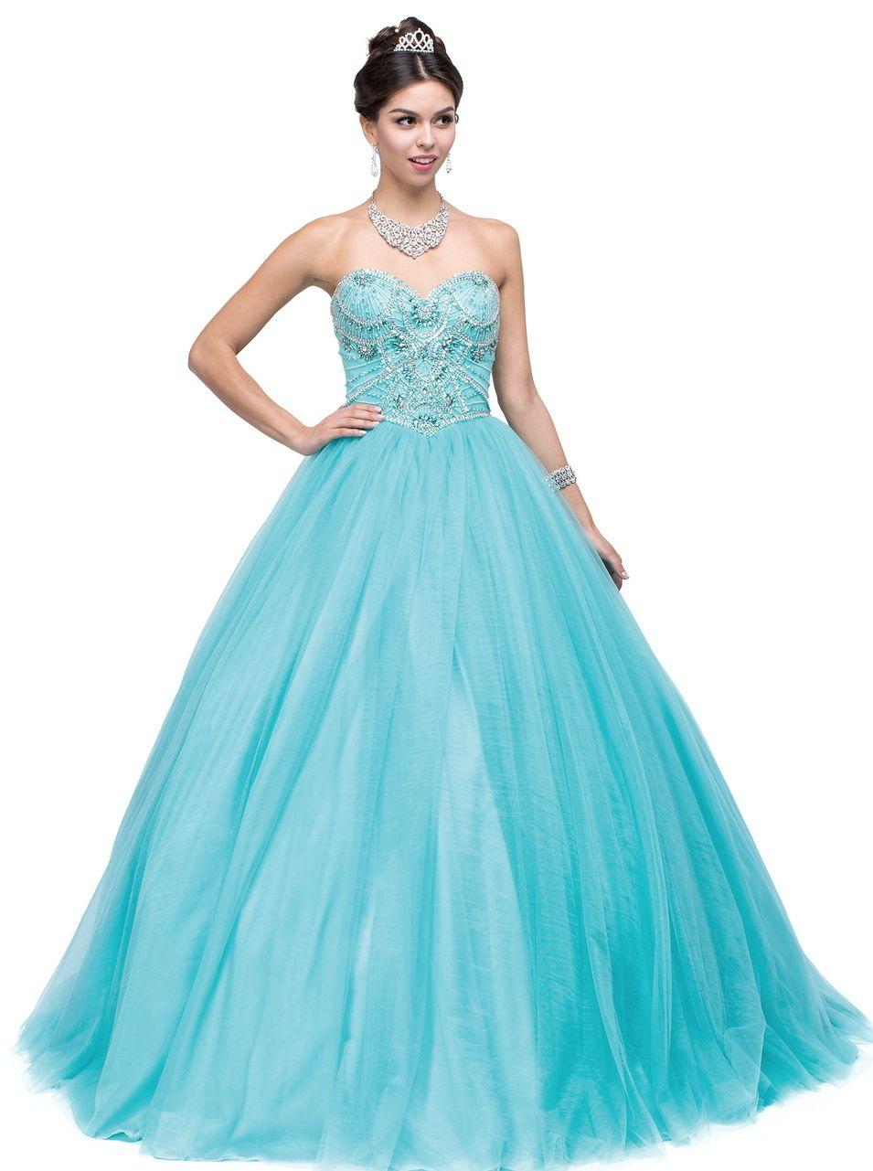 Quinceanera Dresses Prom Dresses<BR>aqn1145<BR>Sweetheart neckline ...