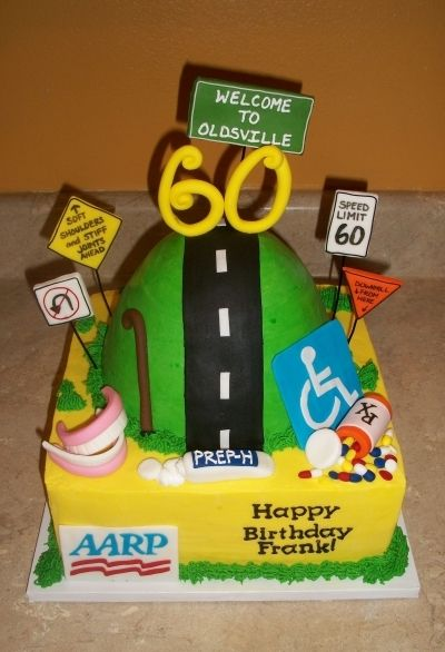Over The Hill Cake 60th Birthday 60th Birthday Cake For Men