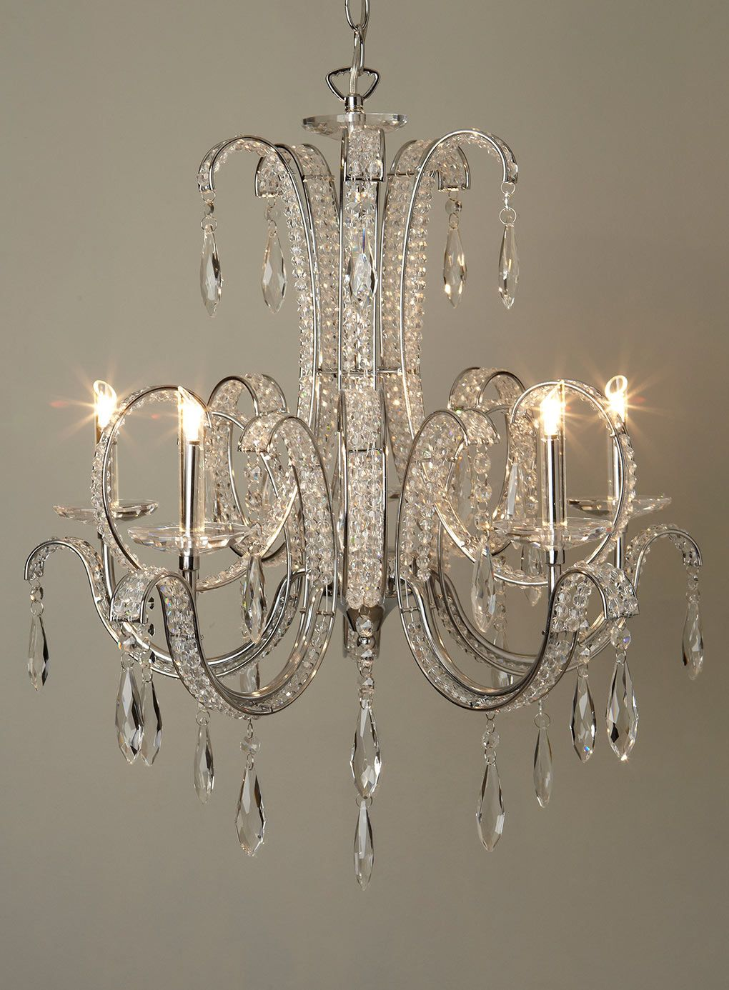 Bathroom Chandeliers Bhs clear ambrin 5 light chandelier - ceiling lights - home, lighting