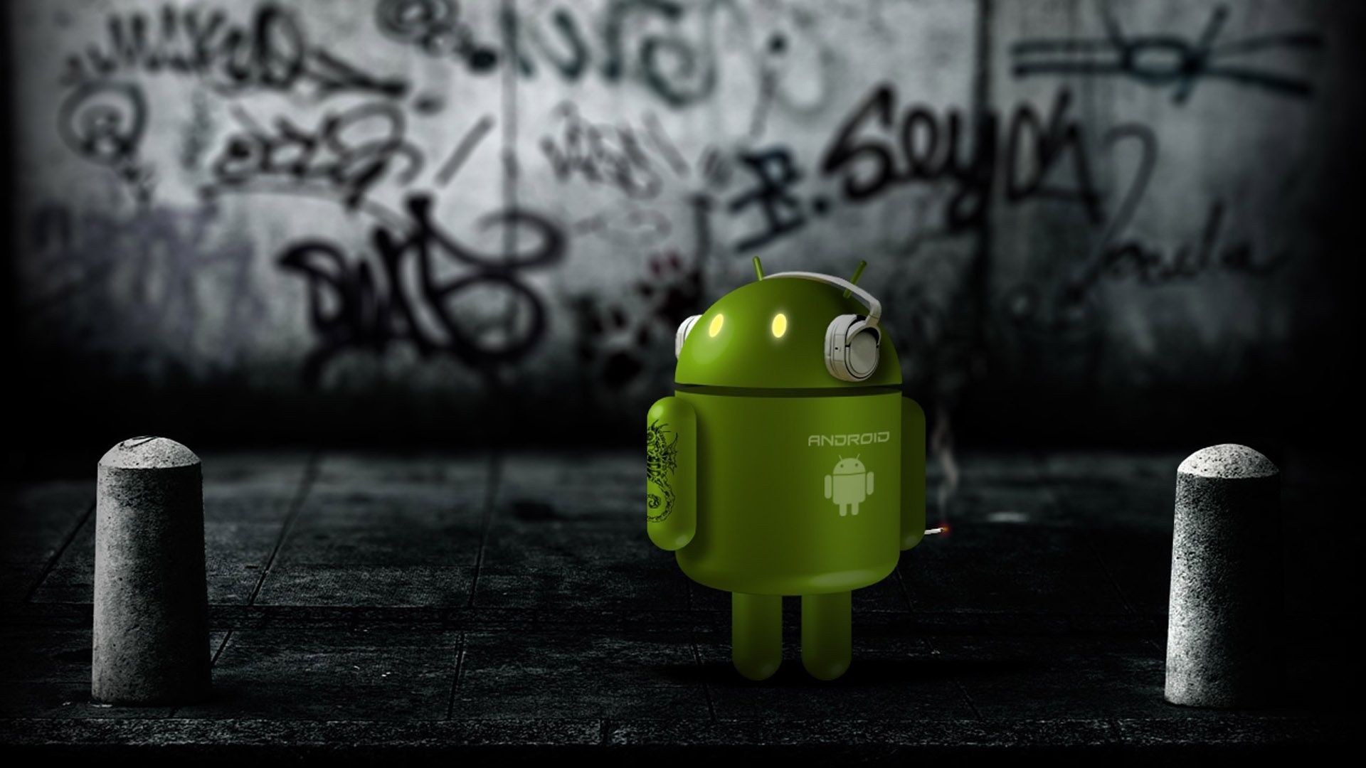 android-robots-3d-wallpaper-free-download | android wallpaper