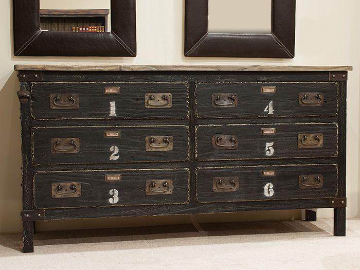 Industrial Look  Drawer Wide Chest
