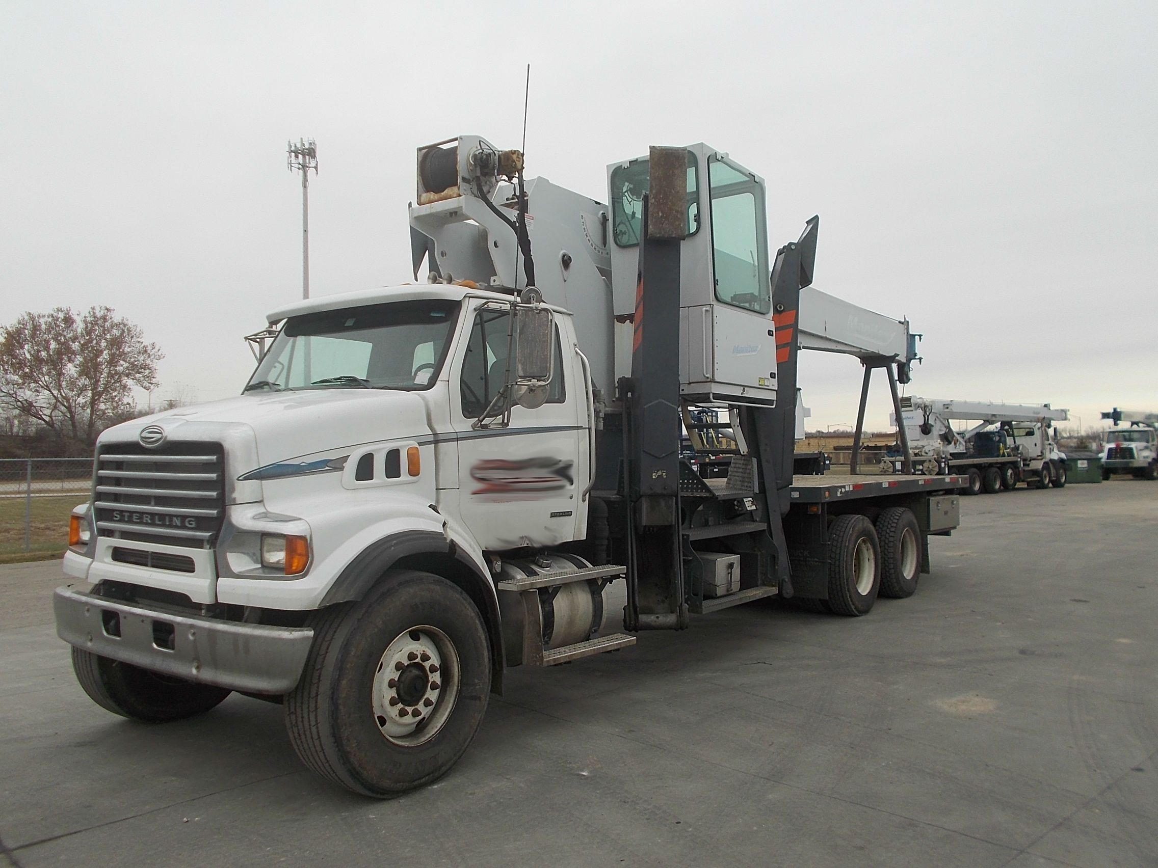 Used manitex 102sx crane on a 2008 sterling lt7501 boom truck for sale