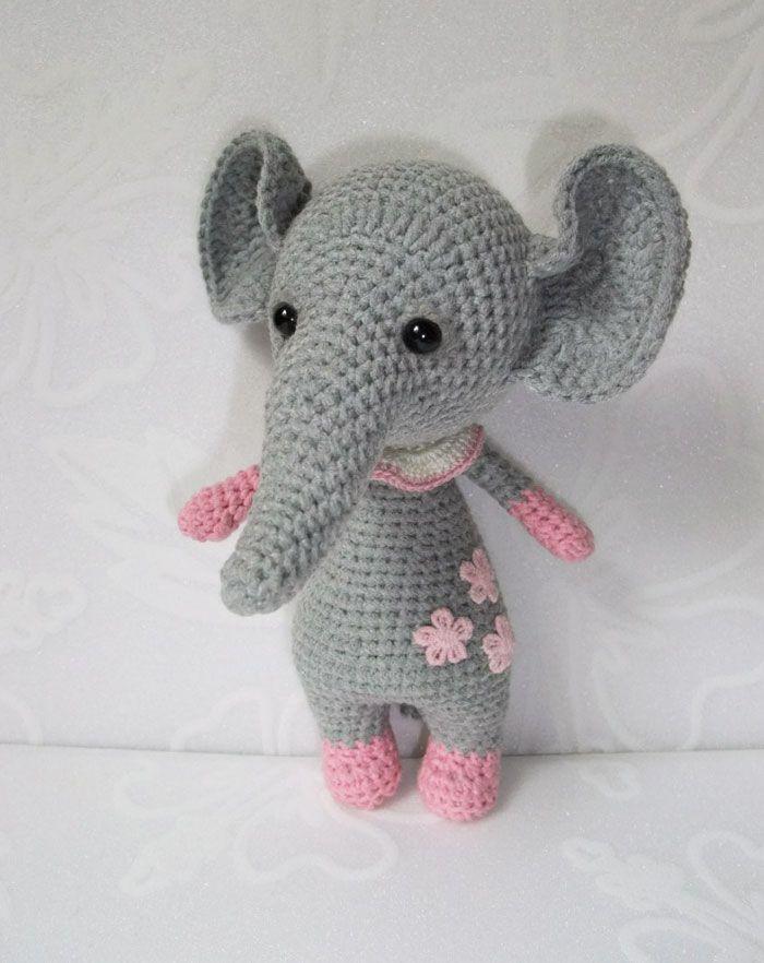 Elefante bebé de ganchillo - patrón de amigurumi | manualidades ...