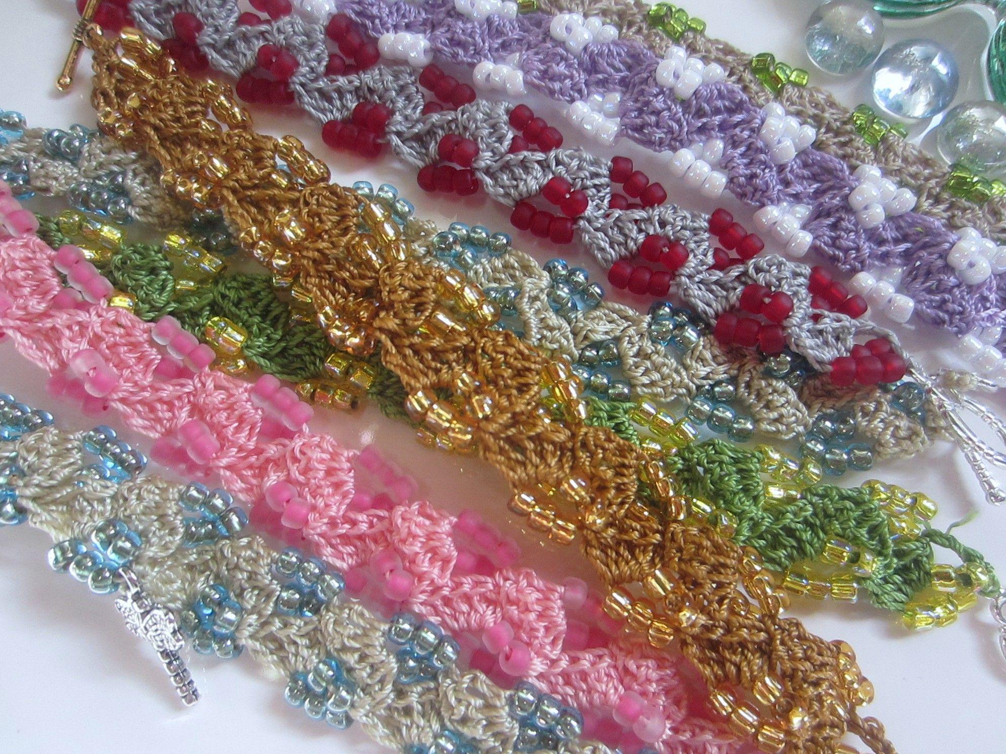 beads, thread, bracelets, crochet, 009 | G-Ma Ellens Crochet Corner gmaellenscraftycorner.wordp...