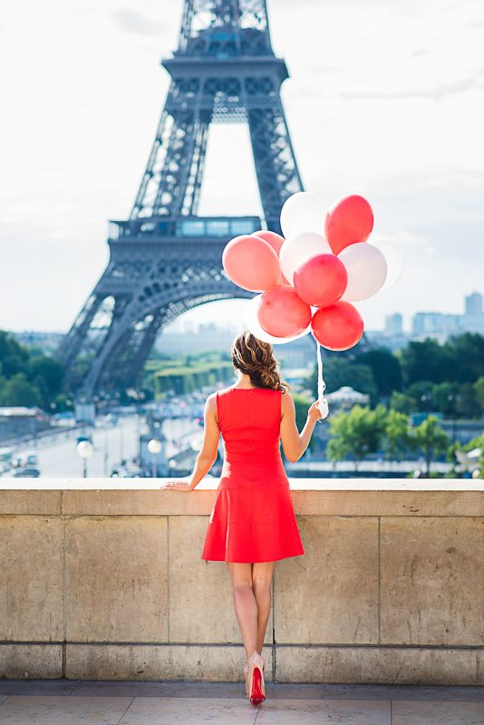 e6770556b Beautiful woman in red dress with red balloons and red soles | Red ...