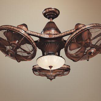 38 Esquire Rich Bronze Finish 3 Head Ceiling Fan 99349 Lamps Plus Antique Ceiling Fans Unique Ceiling Fans Ceiling Fan Design