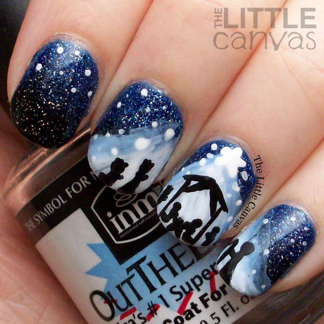 The Little Canvas: Merry Christmas! Nativity Nail Art | My Nail ...