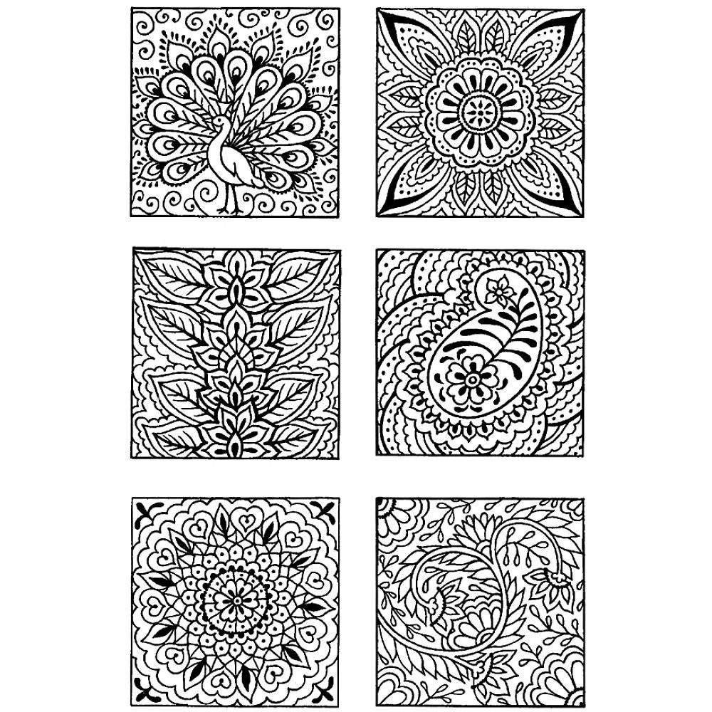 Clear Stamp Set, Block Patterns - for etching