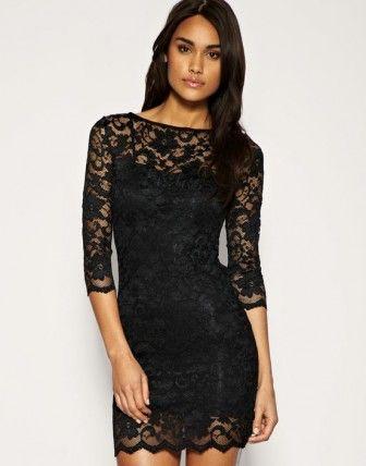 Siyah Dantel Dar Mini Elbise Ilgili Bilgili Black Lace Bodycon Dress Cocktail Evening Dresses Lace Bodycon Dress