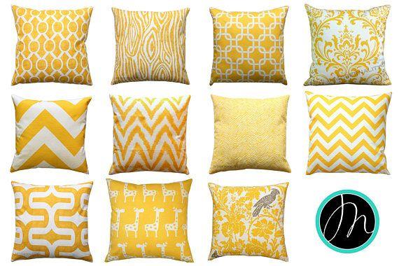 LIQUIDAZIONE del cuscino giallo giallo mais gettare cuscino