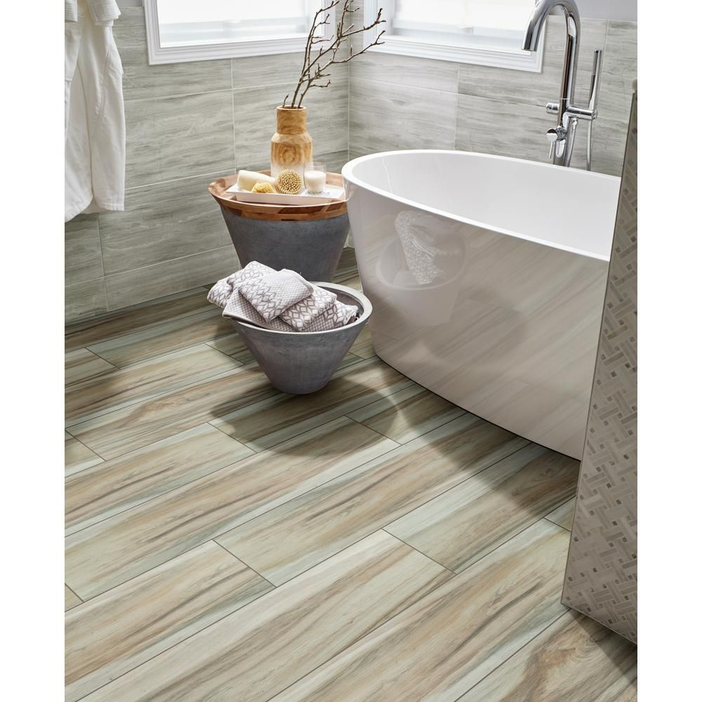 Msi Ansley Amber 9 In X 38 In Matte Ceramic Floor And Wall Tile 14 75 Sq Ft Case Nhdansamb9x38 The Ceramic Floor Wood Look Tile Porcelain Flooring