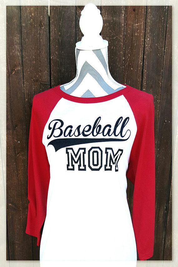 ab77adb731b7c Baseball Mom Raglan. Glitter Vinyl decoration on a super soft, and ...