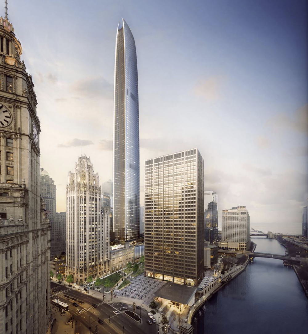 Checking in on the Site of the Tribune East Supertall at 421 N Michigan Avenue in Streeterville - Chicago YIMBY
