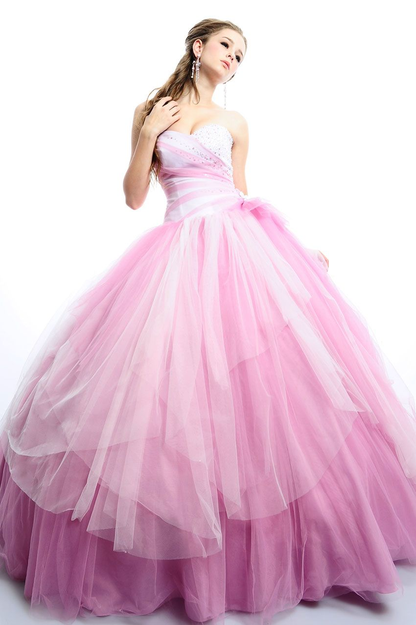Endearing Sweetheart Beading Paillette Tiered Ball Gown Prom Dress ...