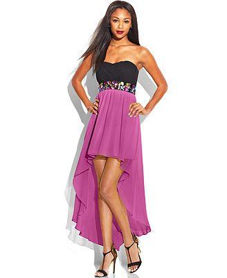 Macys Teeze Me Juniors Colorblock High Low Dress Everything