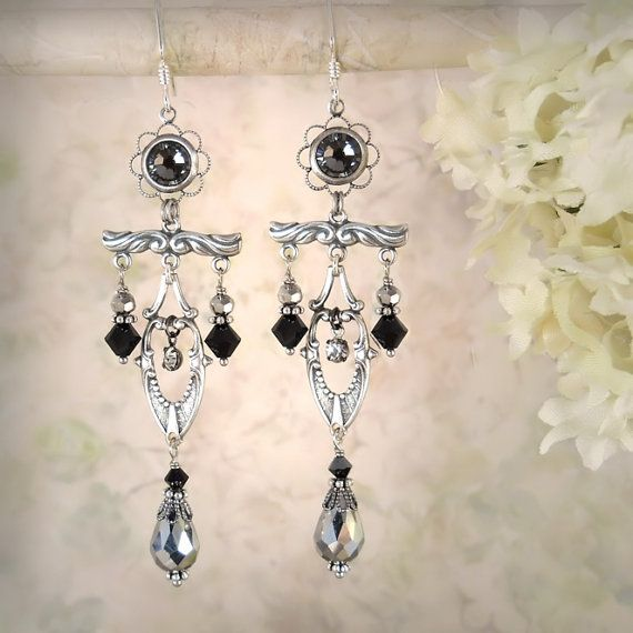Moonlight Sonata Earrings  Petite Symmetrical by MiaMontgomery, $79.00