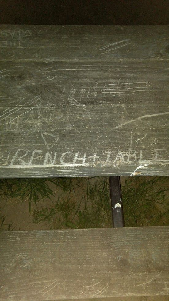 Very literal bench carving