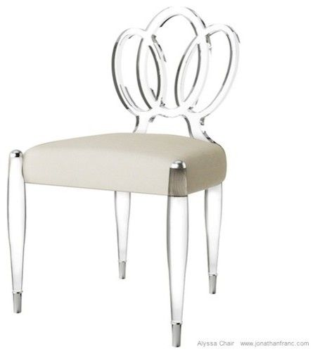 Lucite dining chairs ALYSSA ACRYLIC CHAIR by Jonathan Franc
