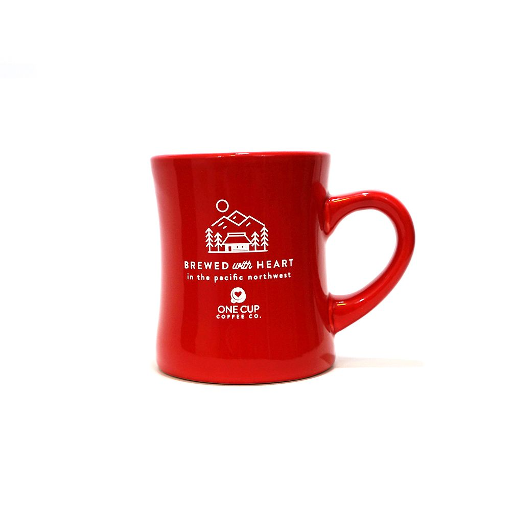 We love these little mugs for the way they feel in our hands. Made from un-vitrified ceramic. 10 oz.  $10