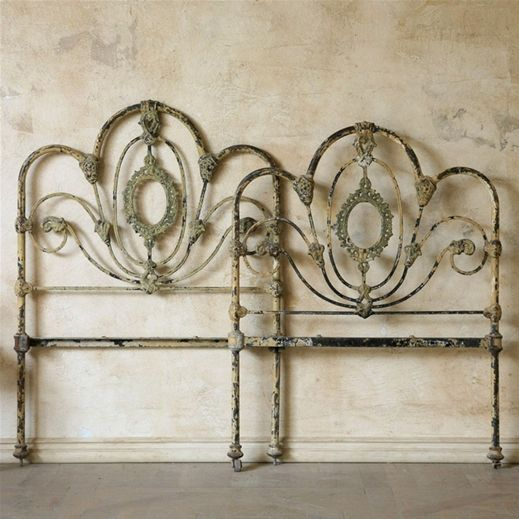 Vintage Twin Wrought Iron Beds 600 Iron Headboard Wrought Iron Headboard Antique Iron Beds