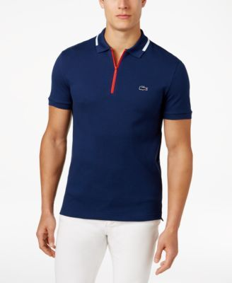 684e62677769 LACOSTE Lacoste Men S Slim Fit Polo With Zip Pocket