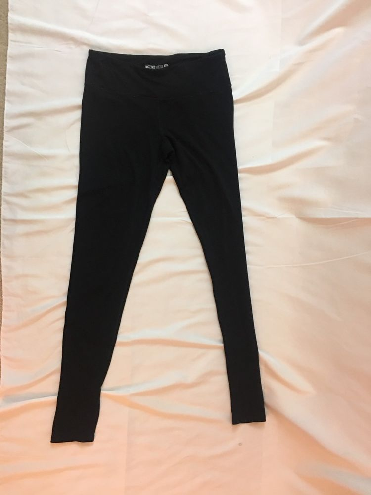 Active by Old Navy Fitted Medium Women's Black Exercise Leggings  | eBay