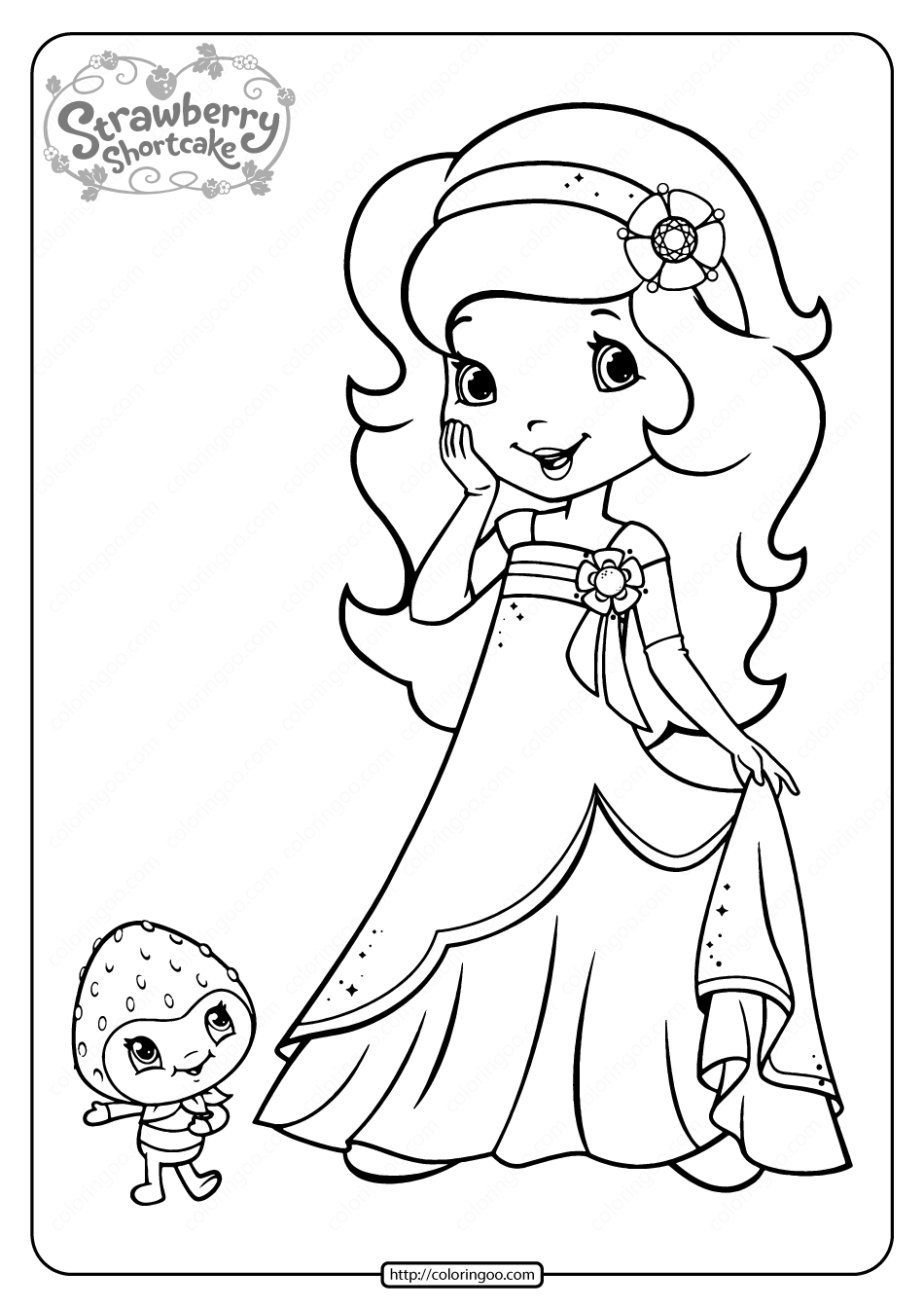 Free Printable Orange Blossom Coloring Page Strawberry Shortcake Coloring Pages Cartoon Coloring Pages Cute Coloring Pages