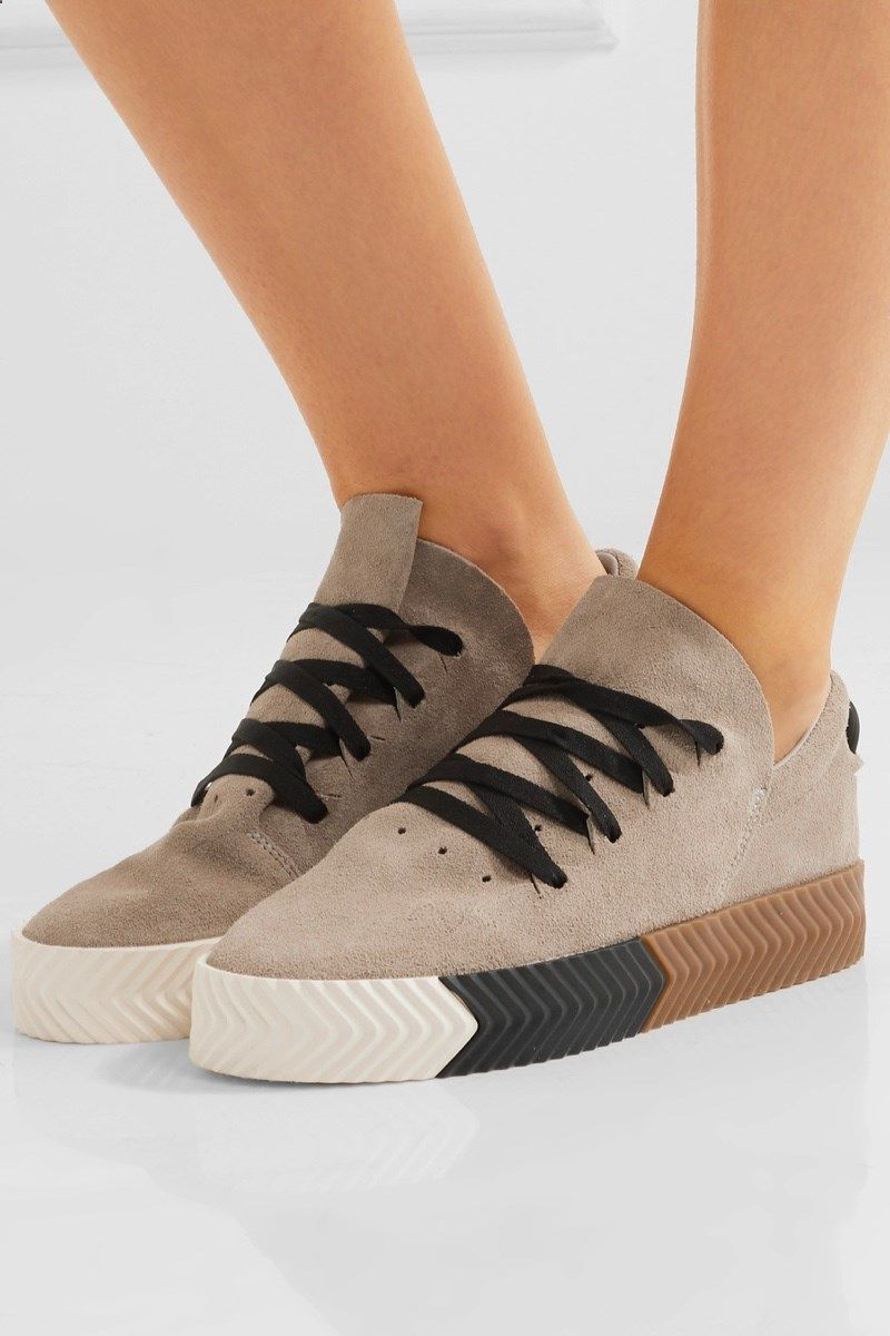 sneakers for cheap 59d2b a3b40 adidas Originals by Alexander Wang Skate Suede Sneakers 180, available at  Net-a-Porter