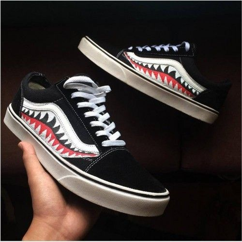 b4fce4c2f8 VANS X BAPE SHARK TOOTH CUSTOM MADE SKATING F1 396 TL Sanalpazar.com ...