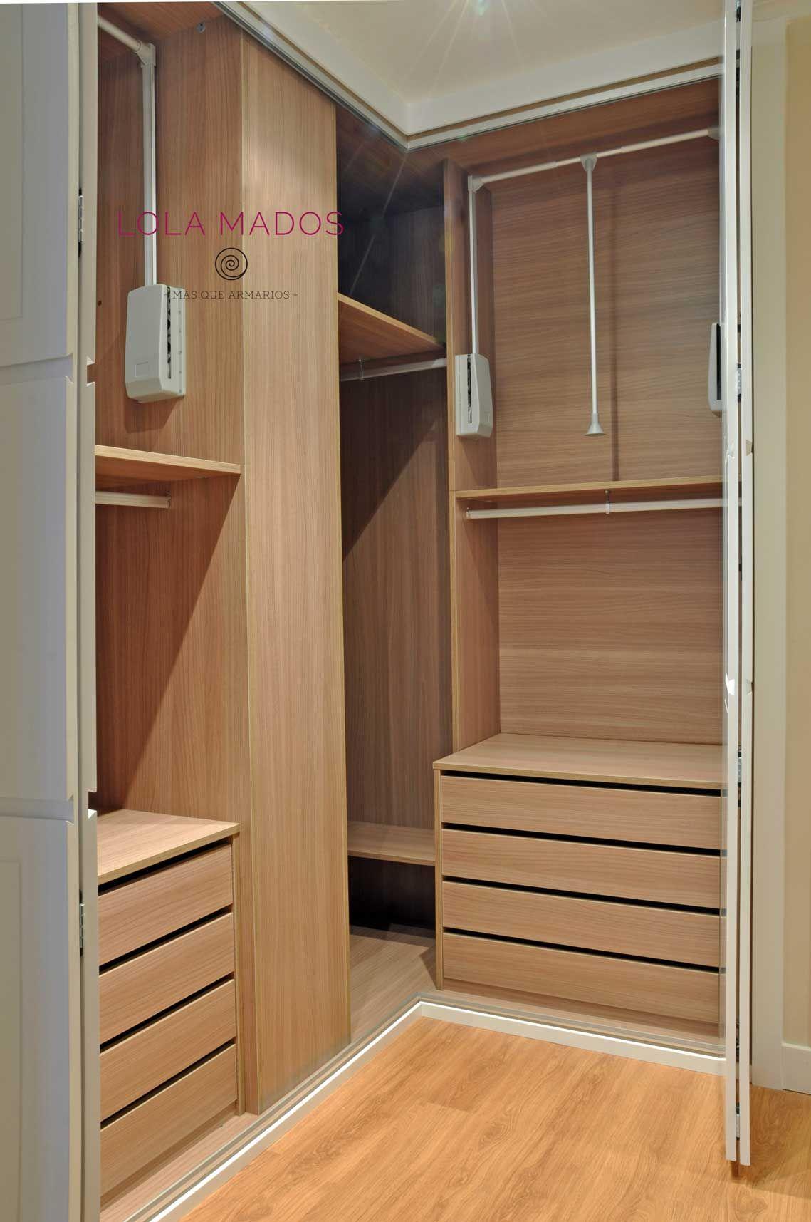 Closet closets armarios roperos pinterest armario esquina interiores y armario esquinero - Ideas de armarios empotrados ...