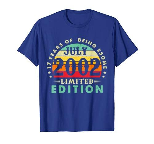 Born July 2002 Limited Edition T-Shirt 17th Birthday Gifts #17thbirthday