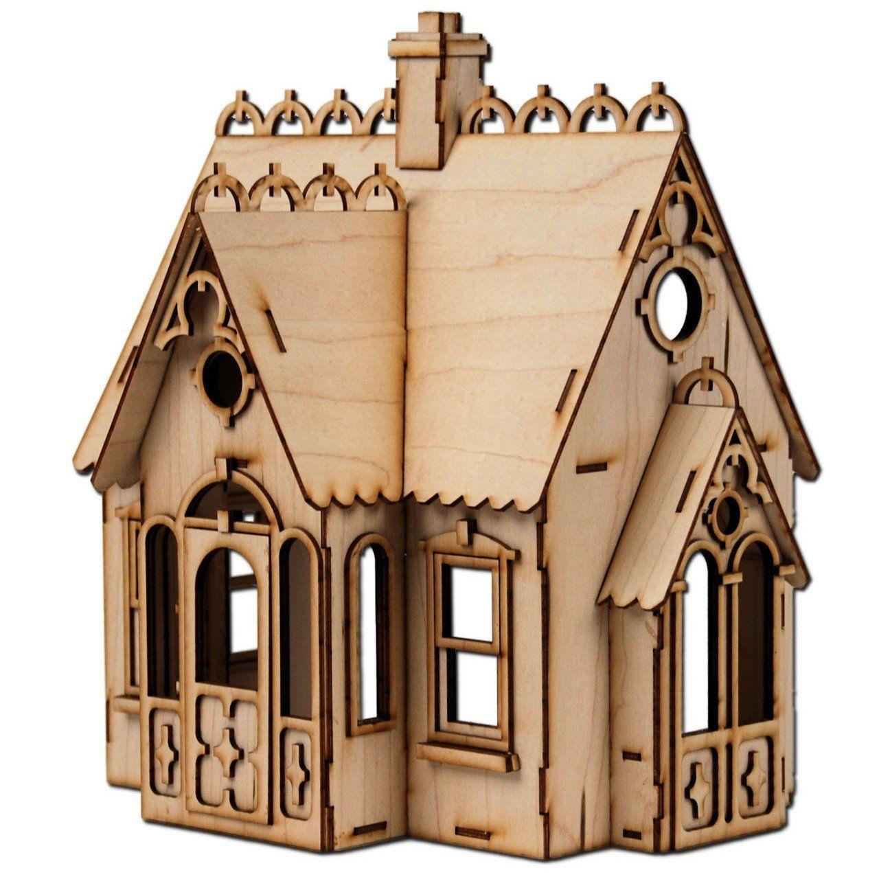 Amazon.com: Half Scale Buttercup Laser Cut Dollhouse Kit 1