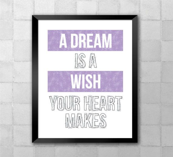 A dream is a wish your heart makes. This inspirational ... A Dream Is A Wish Your Heart Makes Lyrics