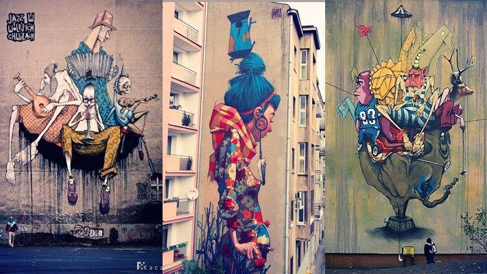 Creative Street Art Wall Murals By Etam Cru