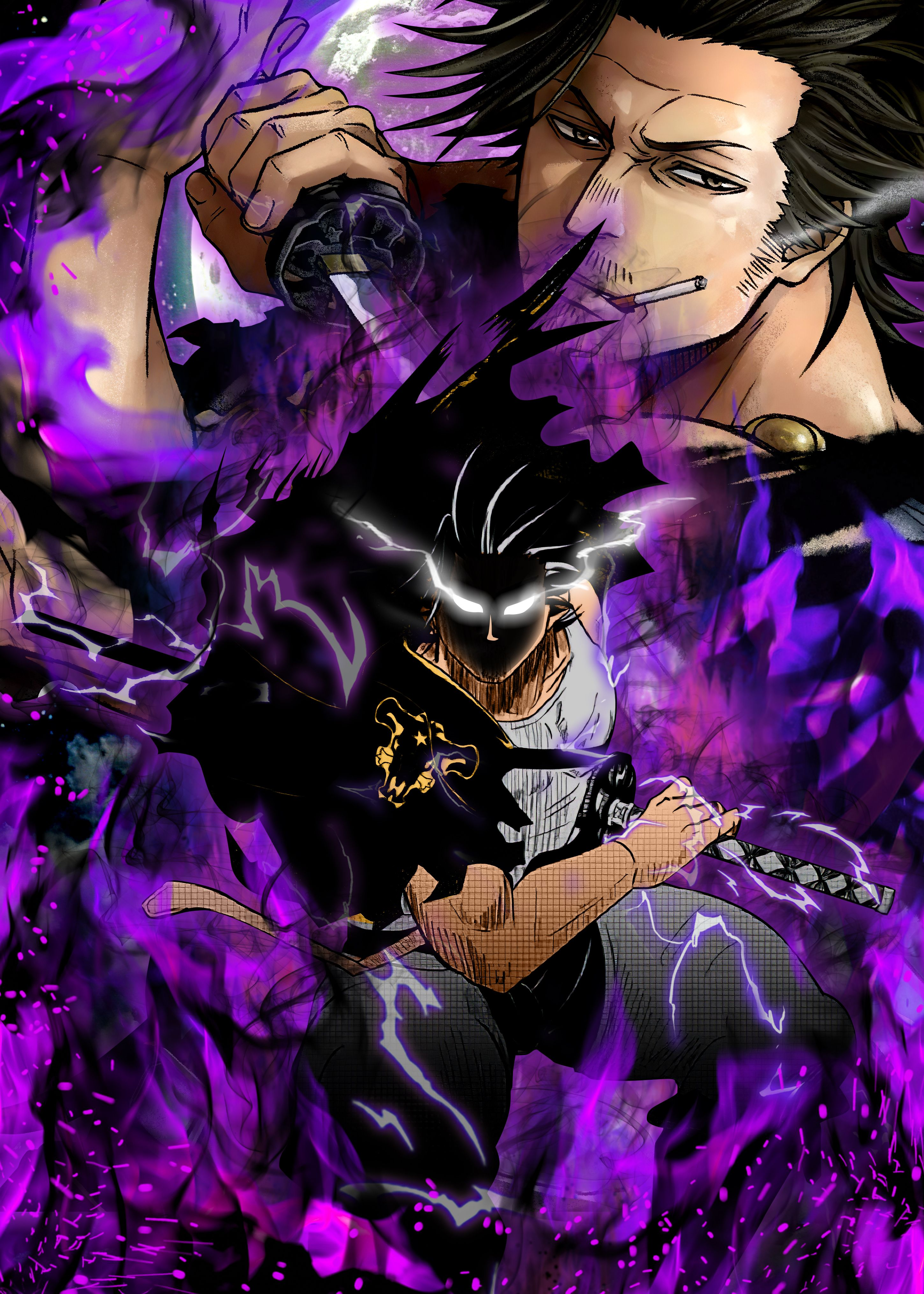 We may earn commission on some of the items you choose to buy. $39 Black Clover (Yami Sukehiro) Metal Poster | Black ...