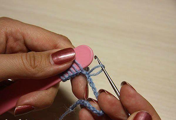 DIY del modelo del cordón del ganchillo del palo de escoba con ...