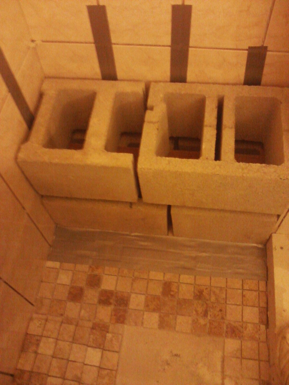 Inside Shower Benches Wood Or Concrete Block With Images